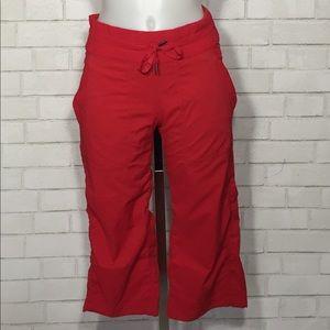 Lululemon crop red dance studio pants size 4